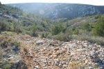 Provence's Côte Bleue - stony steep path towards Calanque d'Erevine