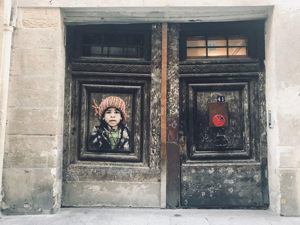Parisian Street Art - Street alley portrait