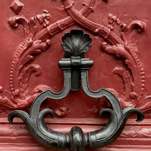 Silent Sunday - Paris - Door Knocker - Red